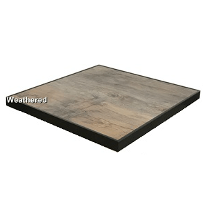 Old Style Weathered Faux Wood Table Top In-Outdoor