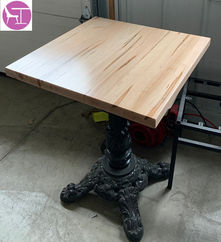 Reclaimed Worm Hole Style Maple Restaurant Table Tops