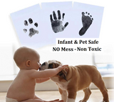 Baby No Mess Ink Pad - For Baby Hand & Foot Prints and Pet Paw Prints Keepsakes. LARGE Size - HeavenLee Memories