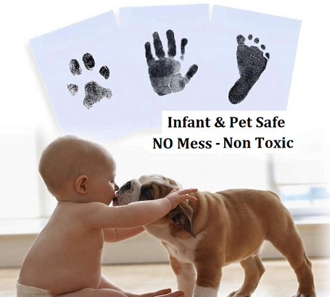 XL NO Mess Ink Pad - Large Size Non Toxic, No Mess, Infant & Pet Safe Ink Pads - HeavenLee Memories