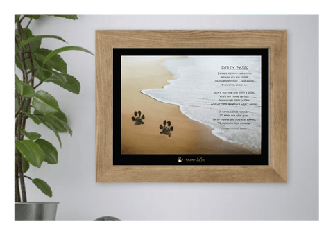 DIY Dog Paw Print Keepsake Kit - With No Mess Ink Pad - HeavenLee Memories