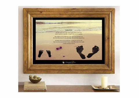 DIY Baby Foot Print Keepsake Kit - With No Mess Infant Safe Ink Pad - HeavenLee Memories