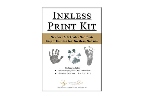 Baby Inkless Print Kit - For Baby Hand & Foot Prints and Pet Paw Prints. Non Toxic. - HeavenLee Memories