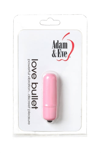 Adam and Eve discreet vibrating pink love bullet sex toy