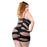 2 Strap Wild Mesh Design Dress - Black - 1x-4x