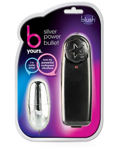 Black and silver power bullet small vibrator sex toy