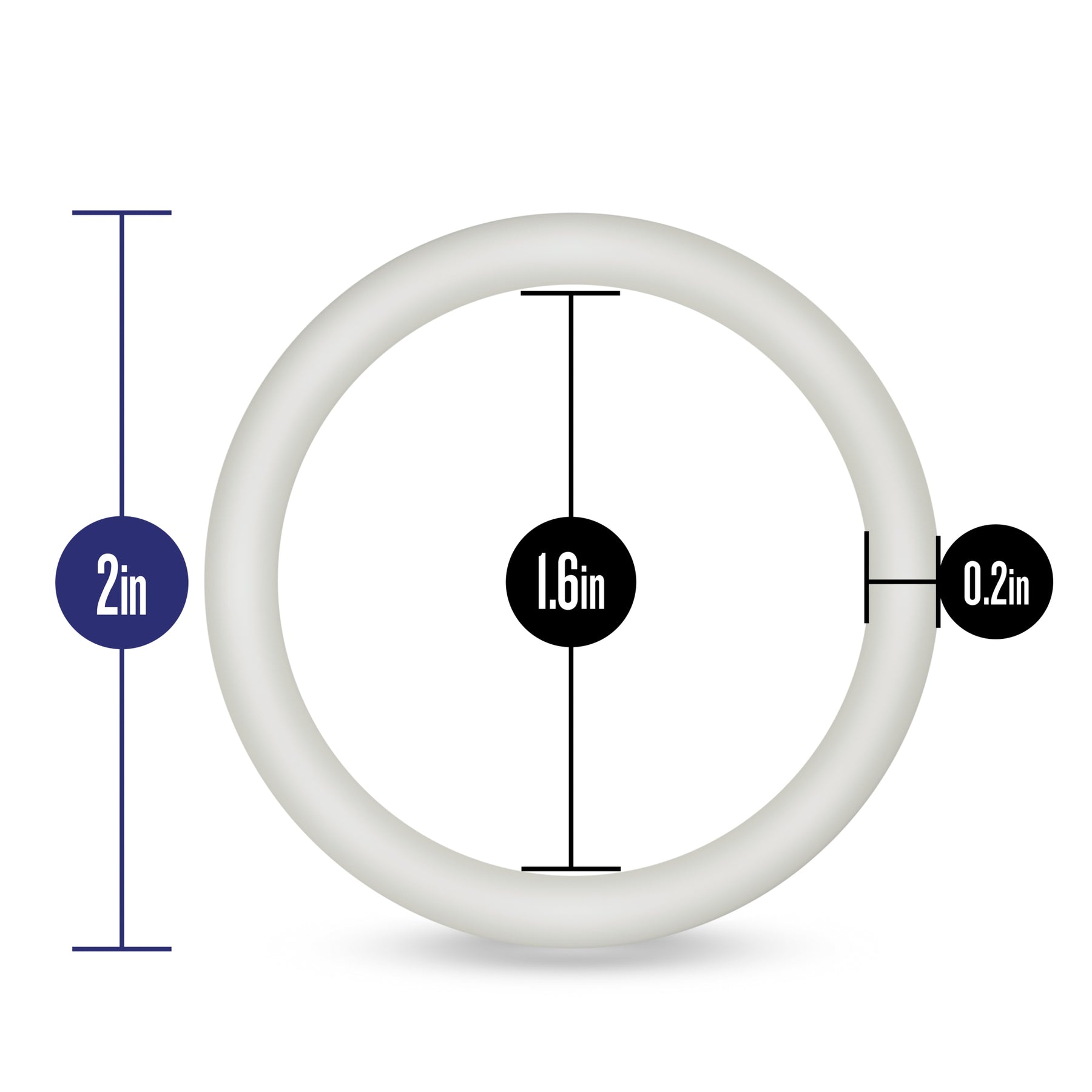 Performance - Vs3 Pure Premium Silicone  Cockrings - Large - White