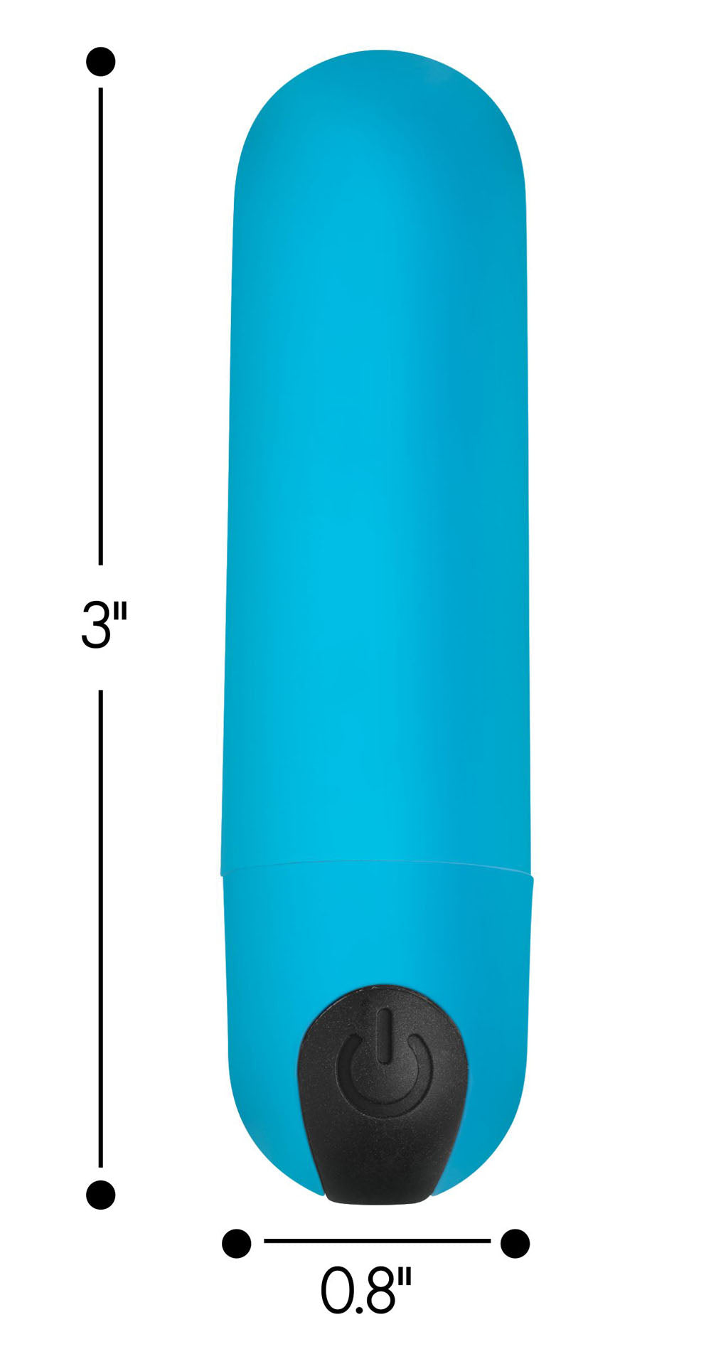 Bang Vibrating Bullet With Remote Control - Blue
