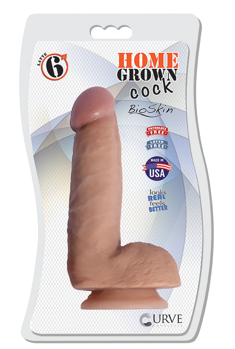 "6"" Home Grown Cock - Latte"
