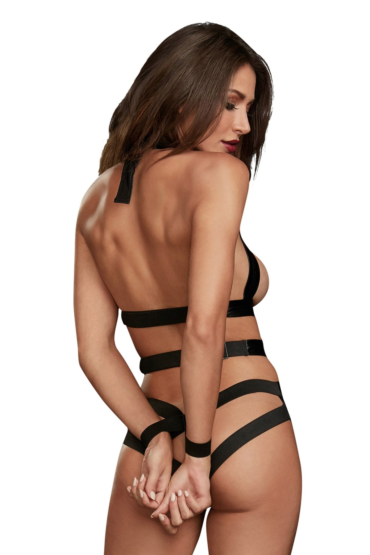 Teddy With Restraints - One Size - Black