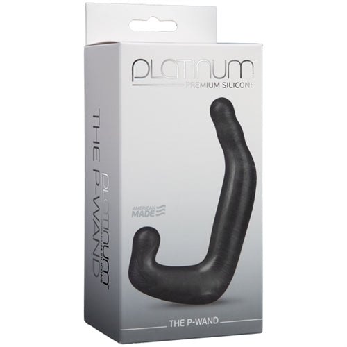 Platinum Premium Silicone - the P-Wand - Charcoal