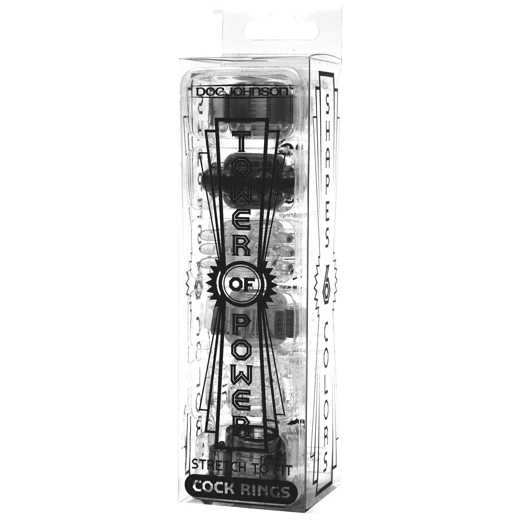 Tower of Power Set of 6 - Black