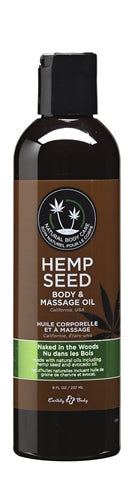 Hemp Seed Massage Oil - 8 Fl. Oz. - Naked in the Woods