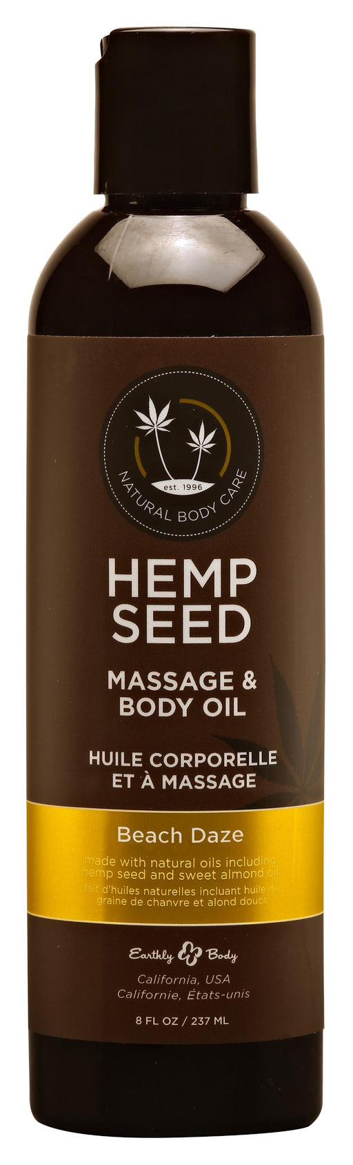Hemp Seed Massage and Body Oil Beach Daze