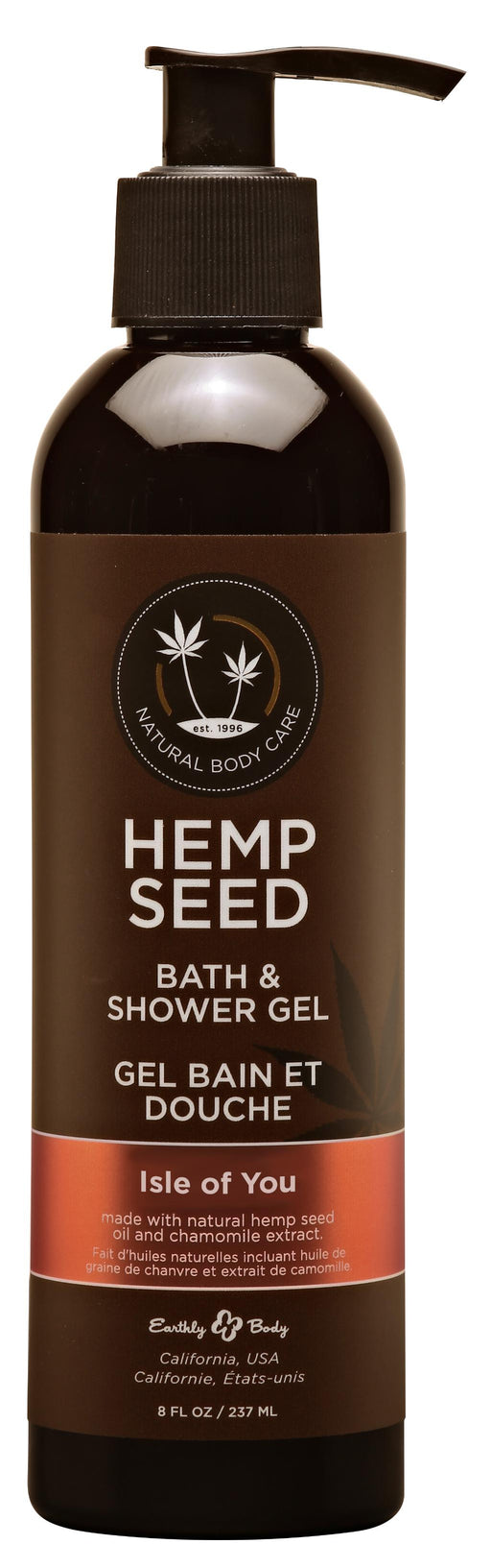 Hemp Seed Bath and Shower Gel – Isle of You - 8 Oz.- 237ml