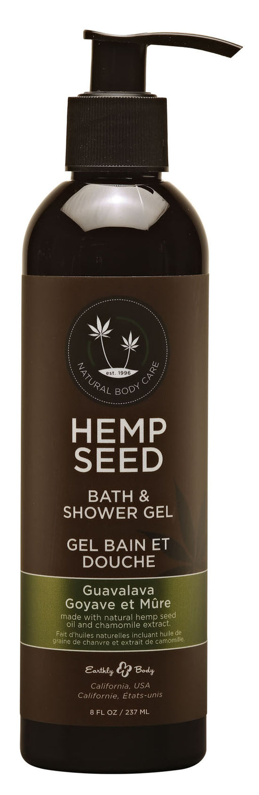 Hemp Seed Bath & Shower Gel - Guavalava 8 Fl. Oz.