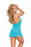 Halter Bow Lace Mini Dress - One Size - Teal