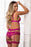 2pc Plunging Boyshort Teddy - One Size - Pinklicious