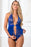 Zipper Crotch Teddy Babydoll - One Size - Blue Angel