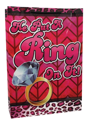 He Put a Ring on It - Large Gift Bag