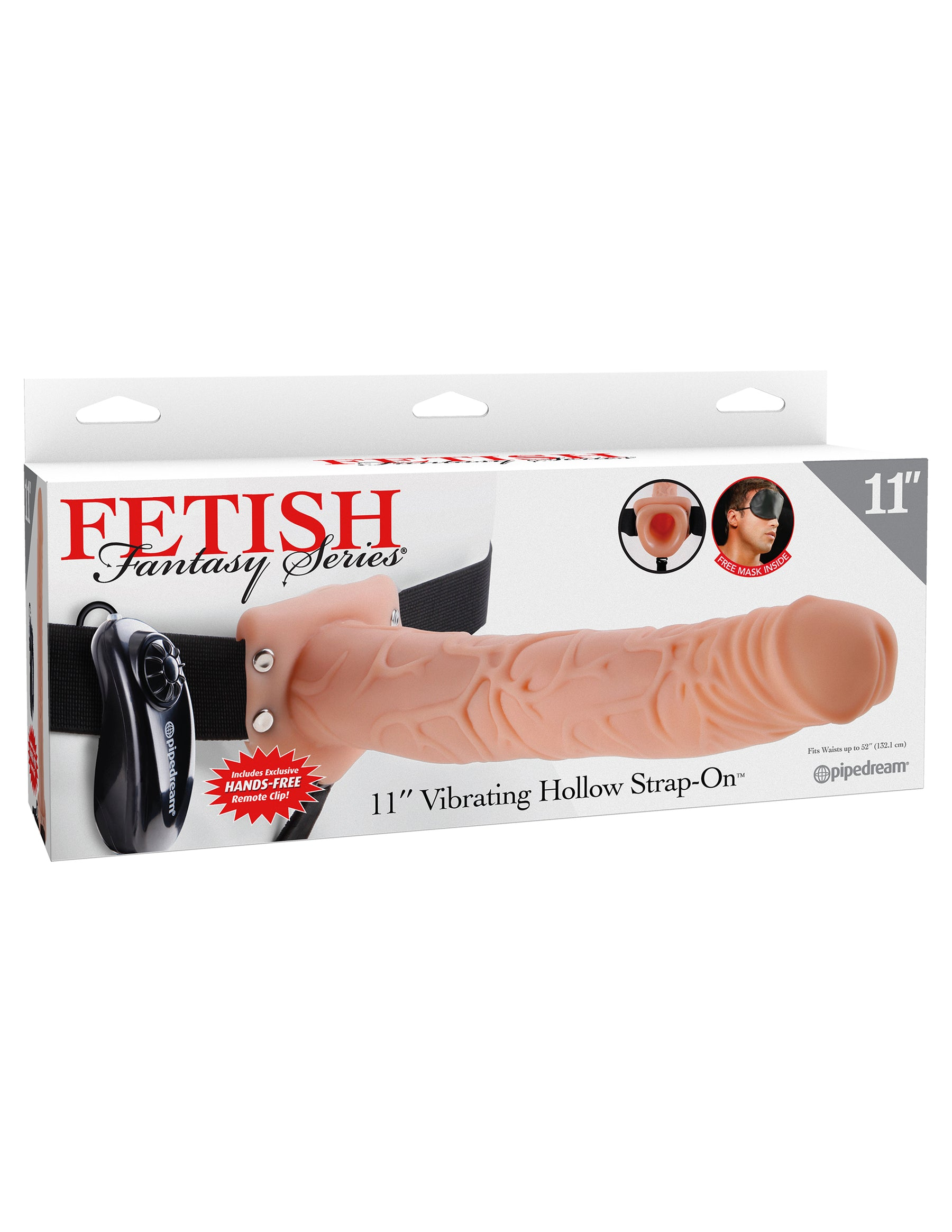 Fetish Fantasy Series 11-Inch Vibrating  Hollow Strap-on - Flesh