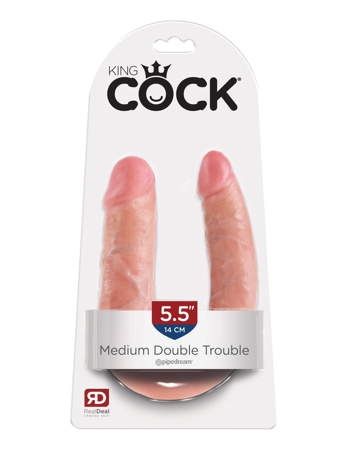 King Cock Double Trouble - Medium - Flesh
