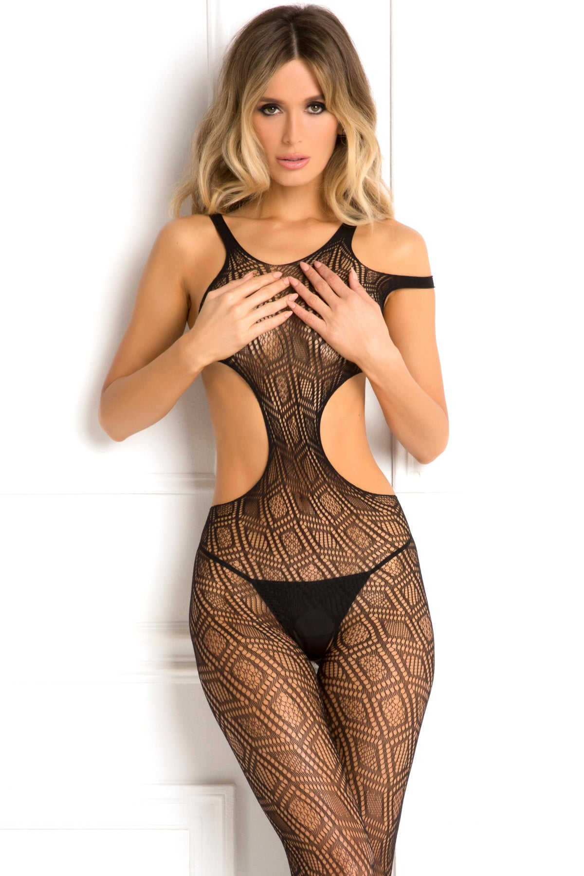 Made the Cut Bodystocking - One Size - Black