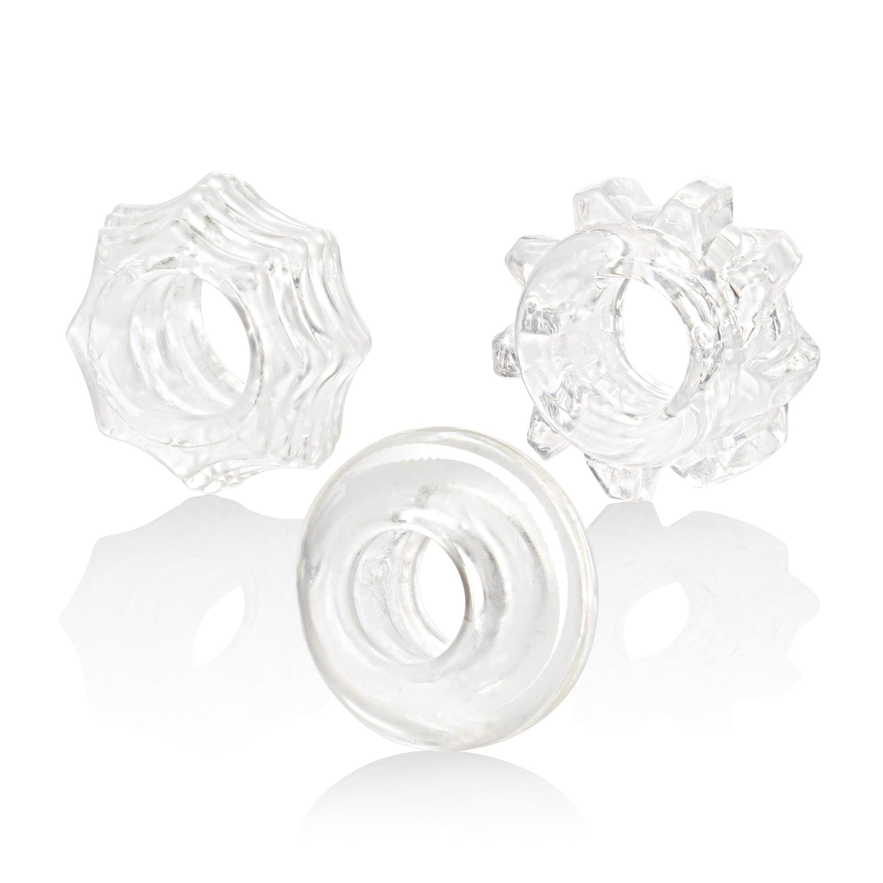 Reversible Ring Set - Clear