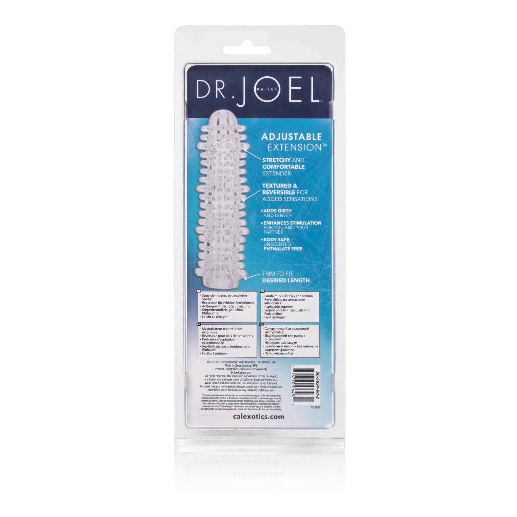 Dr. Joel Kaplan - Adjustable Extension With Added Grith - Clear
