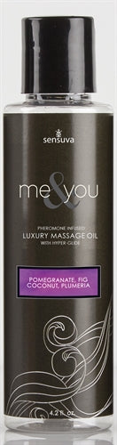 Me and You Massage Oil - Pomegranate Fig Coconut Plumeria - 4.2 Oz.