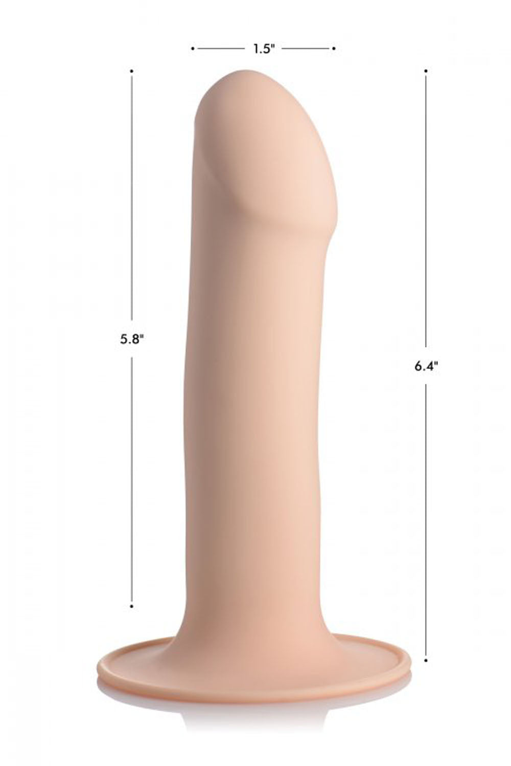 Squeezable Phallic Dildo - Light
