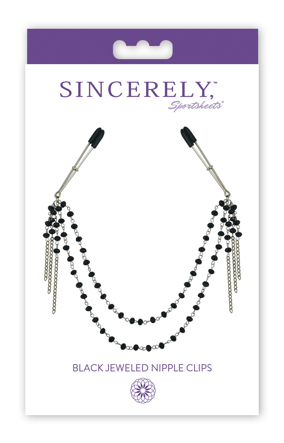 Sincerely Black Jeweled Nipple Clips