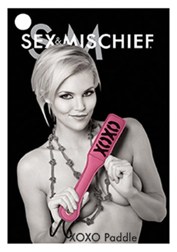 Sex and Mischief Xoxo Paddle - Pink