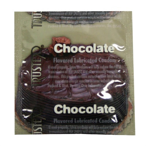 Trustex Flavored Lubricated Condoms - 3 Pack - Chocolate AL-4020