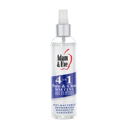 Adam and Eve 4 in 1 Pure and Clean Misting Toy   Cleaner 2 Oz