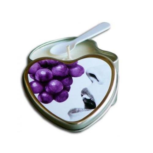 Edible Heart Candle - Grape - 4 Oz.