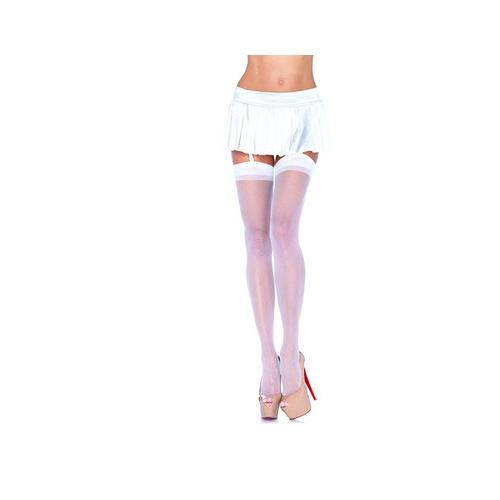 Sheer Stockings - One Size - White