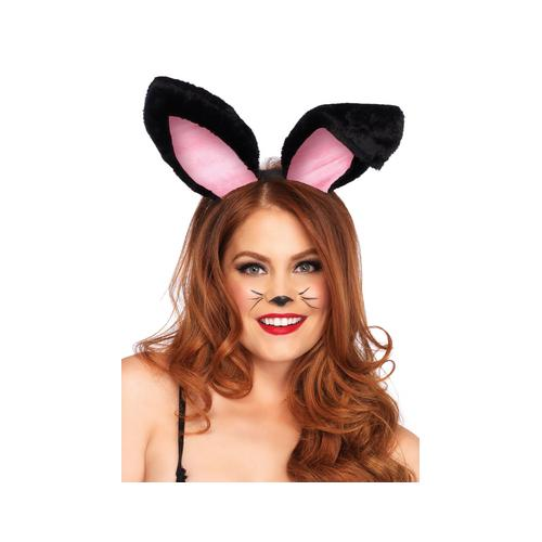 Plush Bunny Ears - Black