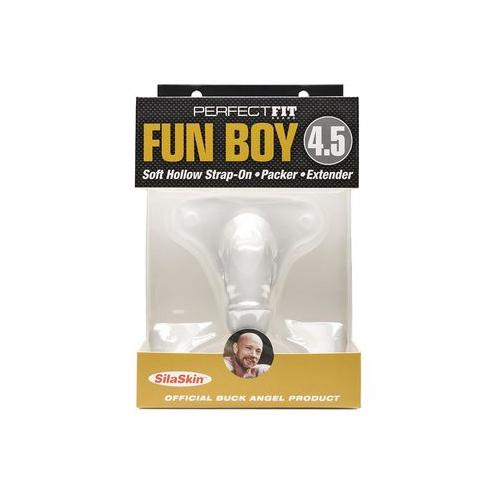 Fun Boy 4.5 Soft Hollow Strap-on - Packer - Extender - Clear