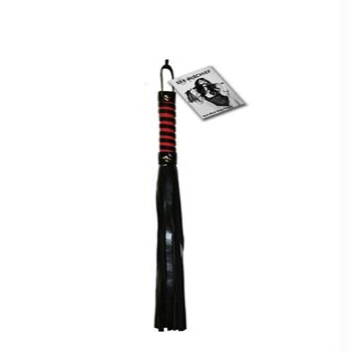 Sex and Mischief Stripe Flogger - Red and Black