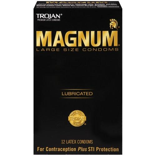 Trojan Magnum Large Size Lubricated - 12 Pack Tj64212