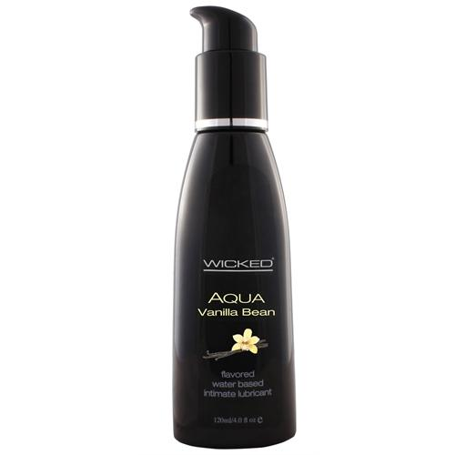 Aqua Vanilla Bean Water-Based Lubricant - 4 Oz.