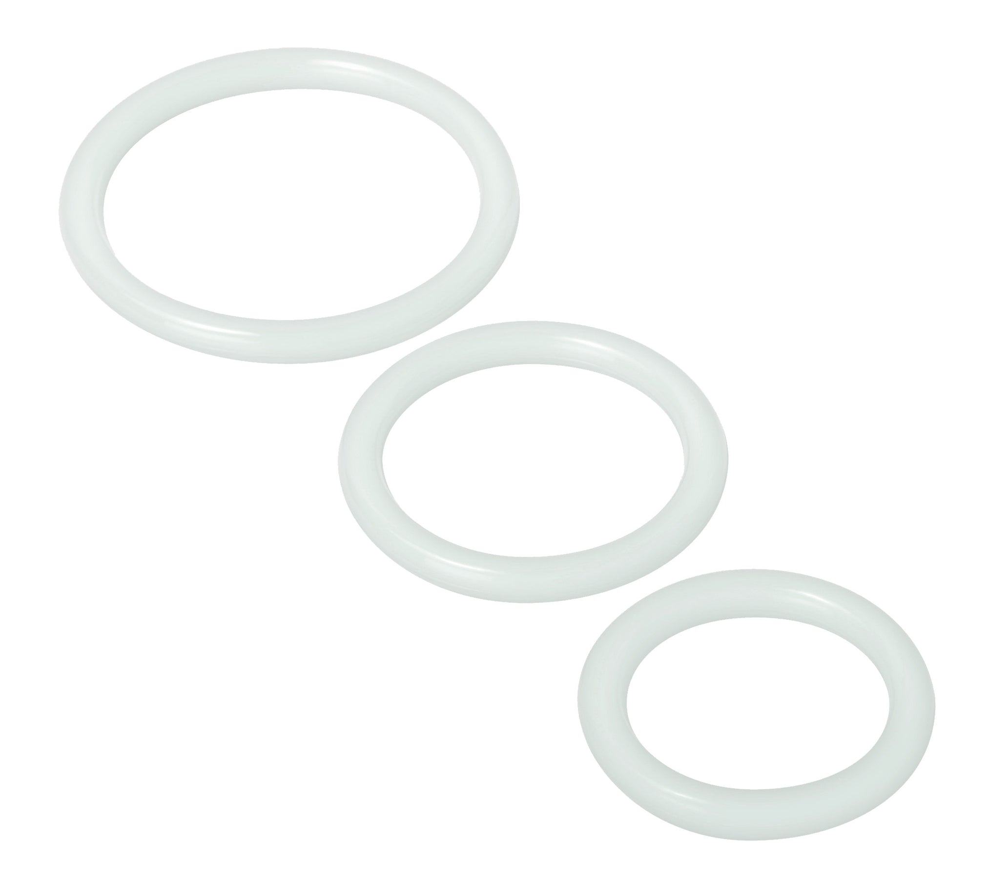 Trinity Silicone Cock Rings - Clear TV-SP130-CLR