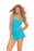 Halter Bow Lace Mini Dress - One Size - Teal EM-1422T
