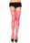 Swirl Diamond Net Thigh Highs - One Size - Neon Pink LA-6325
