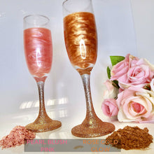 Laden Sie das Bild in den Galerie-Viewer, Personalised Glitter Prosecco, 2 Glasses - glitter prosecco