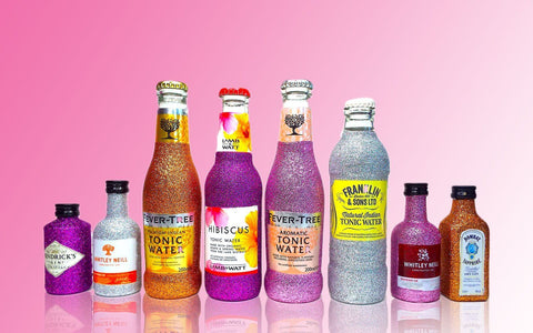 Das ultimative glitzernde Gin-Tasting-Set