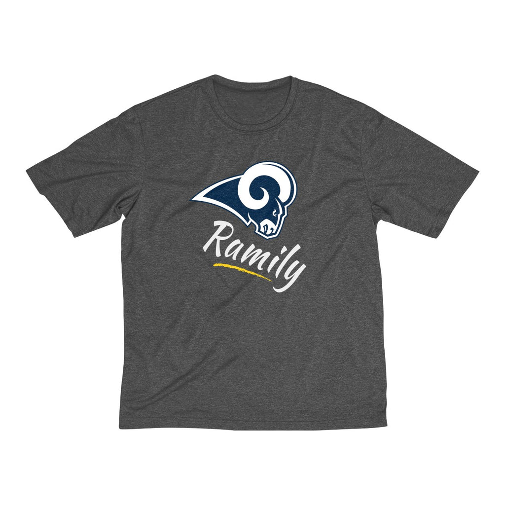 "LA Rams - ""Ramily"" Men's Heather Dri-Fit Tee"