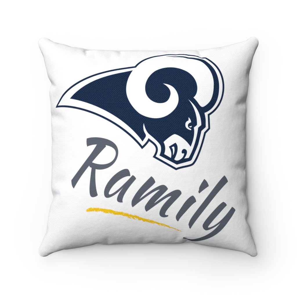 "LA Rams ""Ramily"" - Spun Polyester Square Pillow"