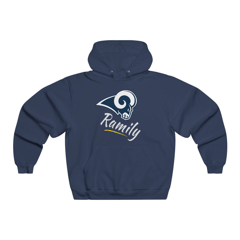 "LA Rams - ""Ramily"" Men's NUBLEND® Hooded Sweatshirt"